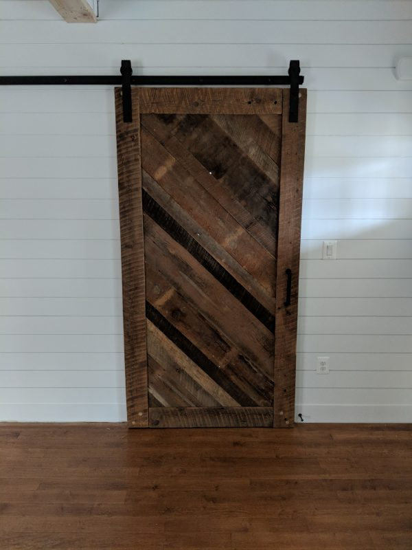 Diagonal Wood Barn Door 2