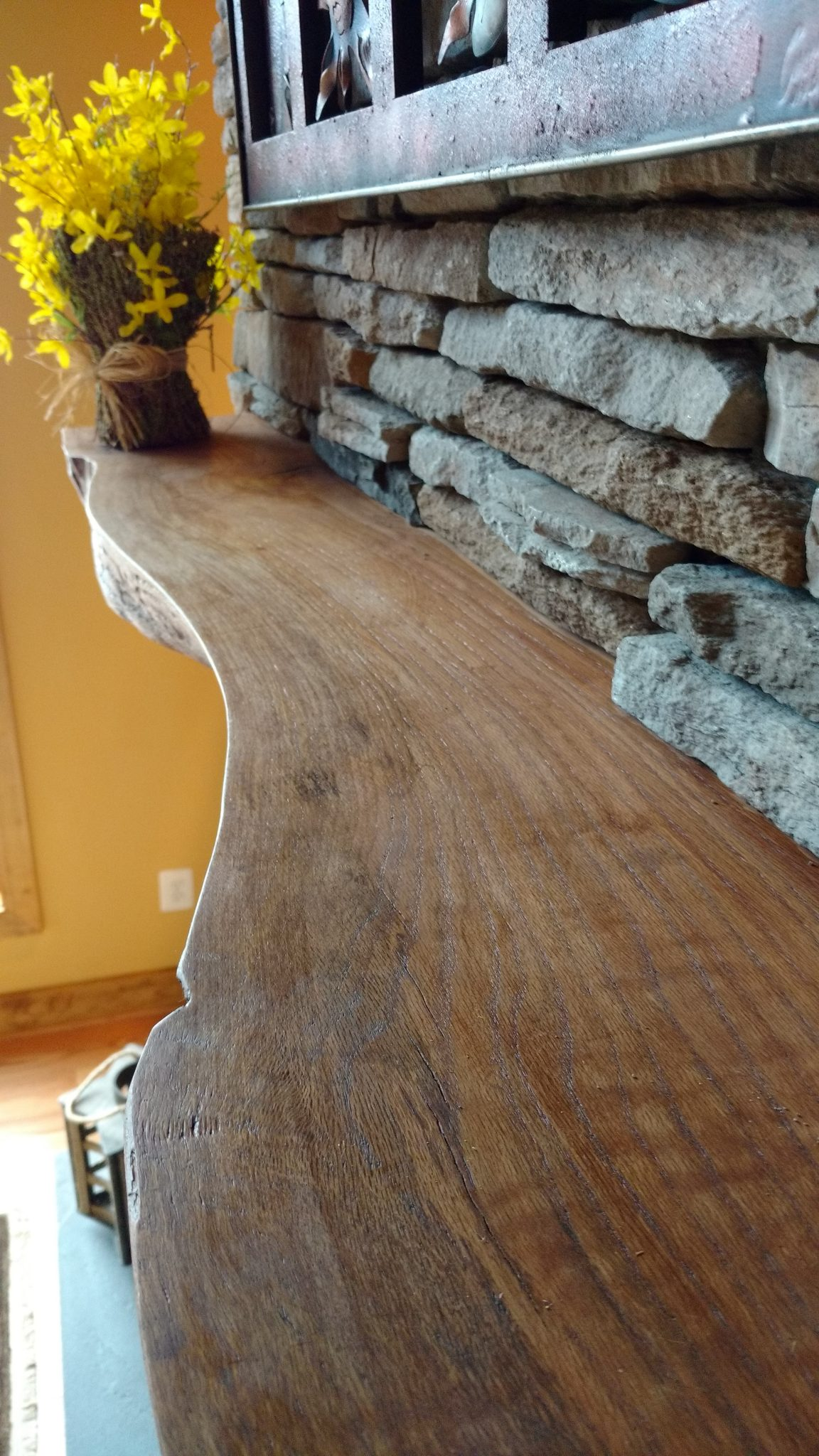 Live Edge Mantel Fraser Wood Elements 1
