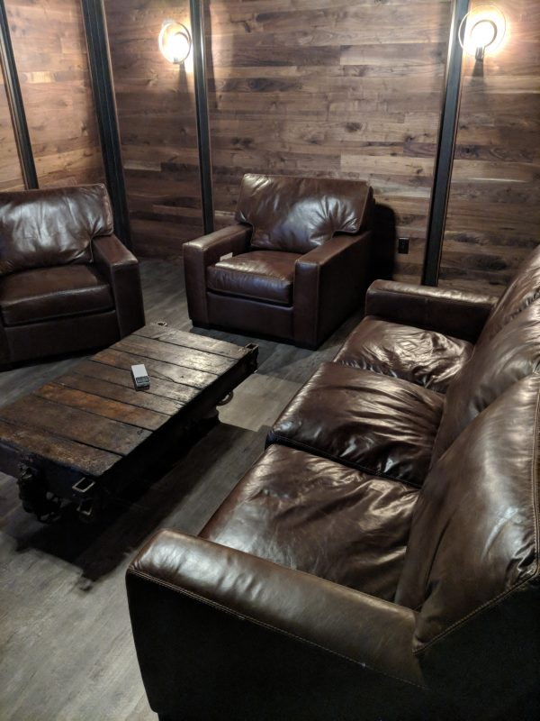Walnut Wall in Cigar Room