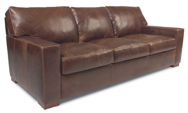 Danford three seat sofa in mont blanc java leather oil and wax finish