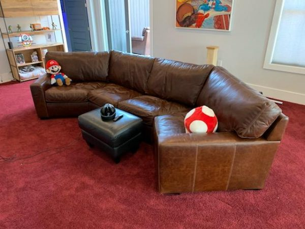 Danford Wedge in Mont Blanc Java for a game room from Fraser Wood Elements