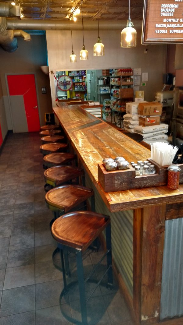 Cantilever stool at Restaurant