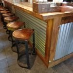 Benny Cantilever Stools Pine Seats