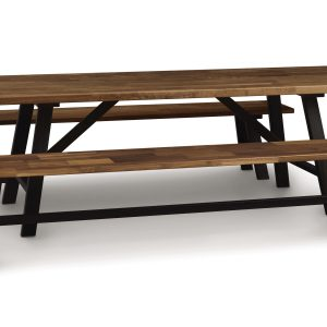 Essentials Walnut Farm Table Benches