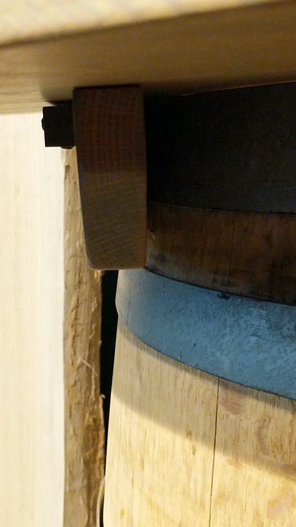 Side View of Barrel Top Skirt Attached