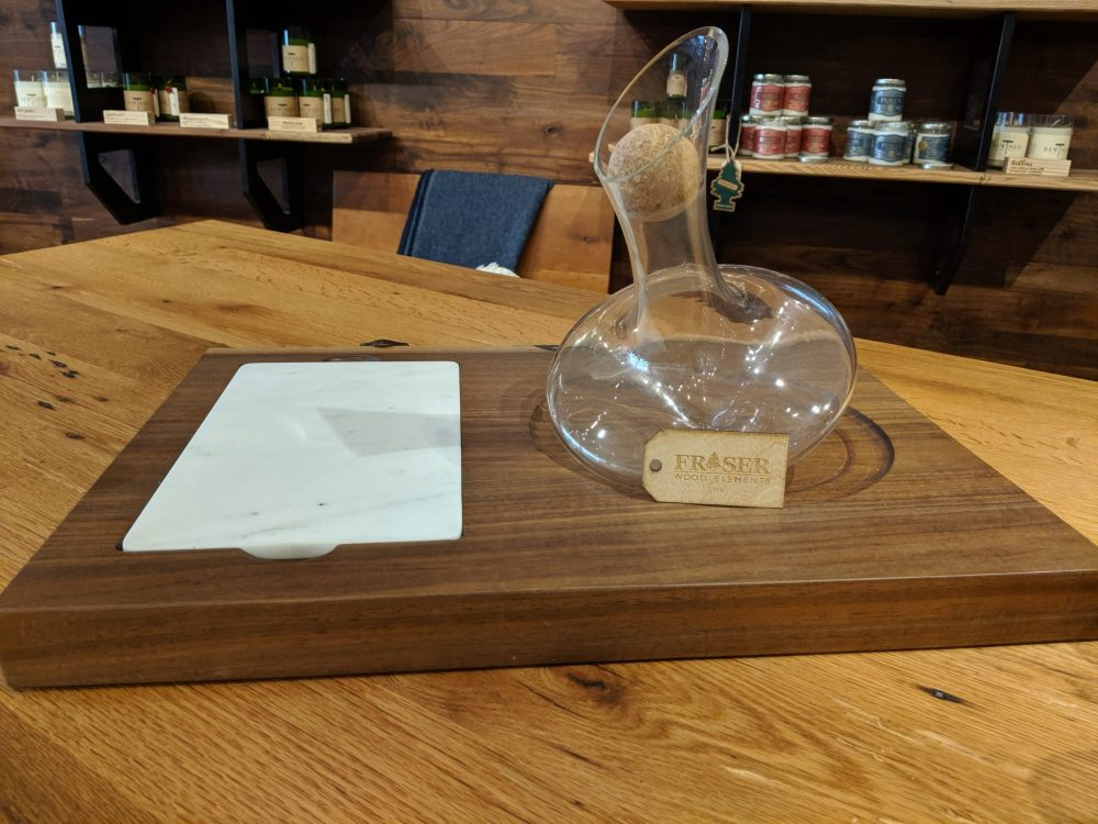 Revolving Decanter And Cheese Board