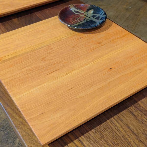 Square Breadboard with Dipping Bowl