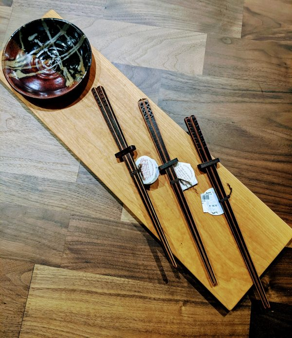 Cherry chopsticks at Fraser Wood Elements