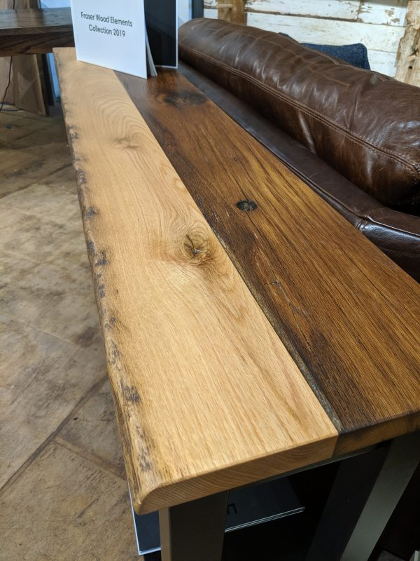 Reclaimed oak console