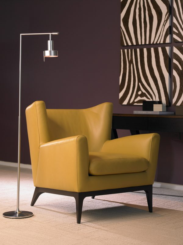 Cole chair in butterscotch leather