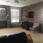 Walnut Feature Wall 1