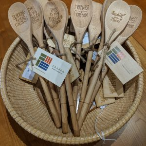assoretd laser engraved kitchen spoons