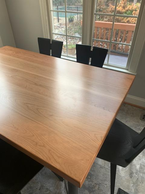 Solid Cherry Dining Table with Six Axis Chairs
