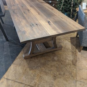 Huszar Dining Table in Oak with Grey Oil