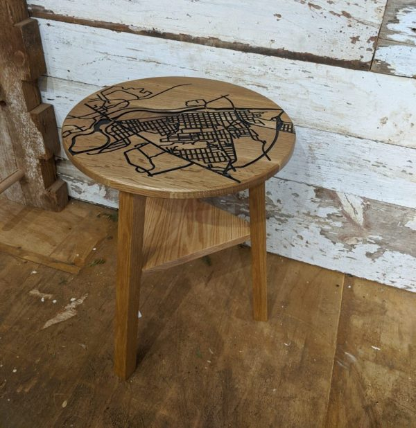Fredericksburg Map End Table Natural