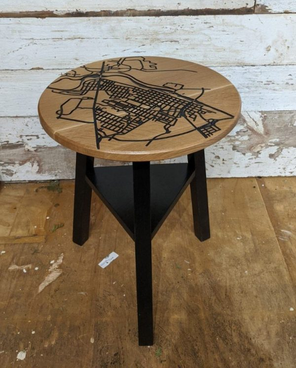 Fredericksburg Map End table