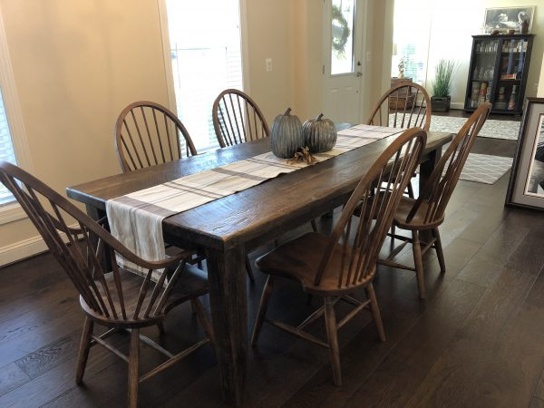New England Dining Chair with reclaimed table