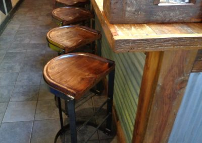 Benny Cantilever Stools Pine Seats 2