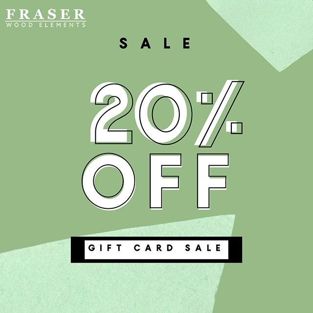 20% off ALL gift cards!