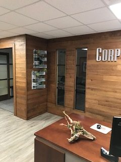 Cherry Feature Wall in Commerical Space