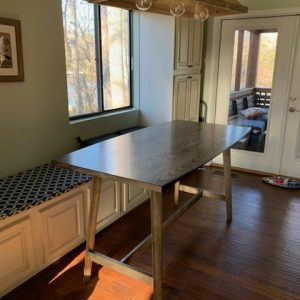 Fowler Bar Height Dining Table in Charcoal Lacuqer
