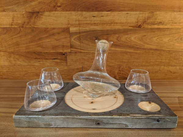 Full View of decanter and glasses
