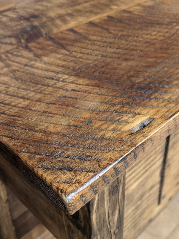 close up of reclaimed wood