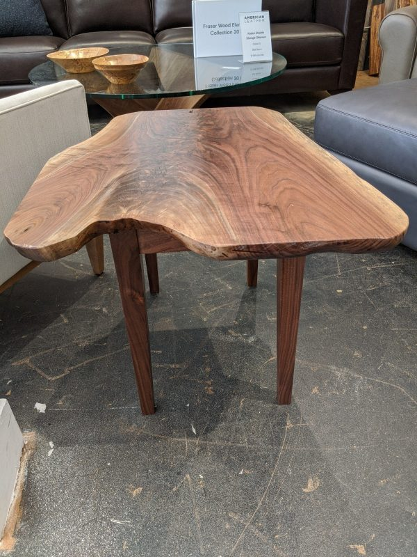 Live edgde walnut end table