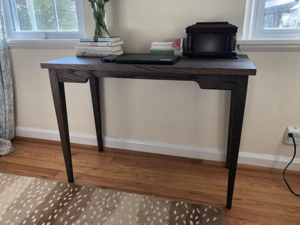 Mitchell Office Desk Charcoal Finish