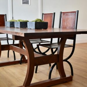 Side View of Walnut Haszar Dining Table