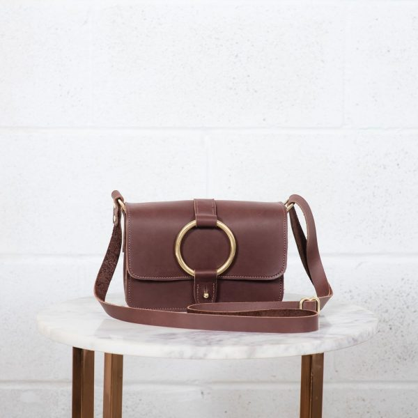5 pocket crossbody brown front
