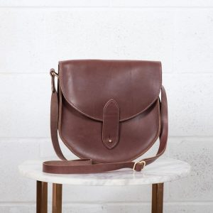 heritage saddlebag brown front view