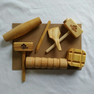 Play Dough Wooden Toy Set