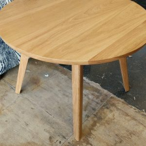 Catalina Round White Oak End Table Fraser Wood Elements