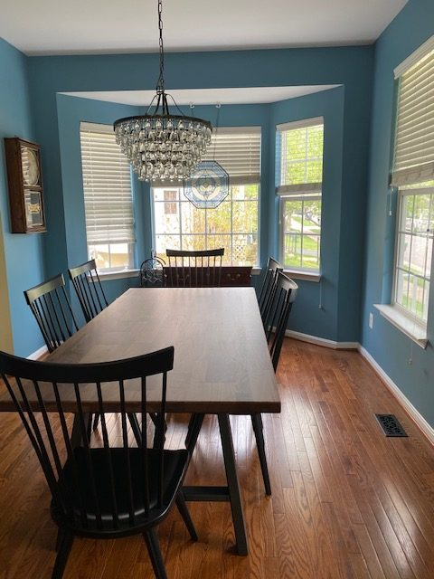 Farm House Essential in Walnut with Jenna Dining Chair