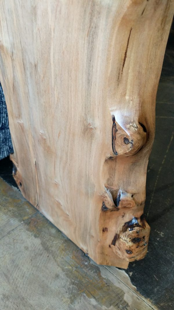 Close up of Live Edge Maple Waterfall 1