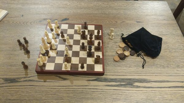 Wooden chess checker set